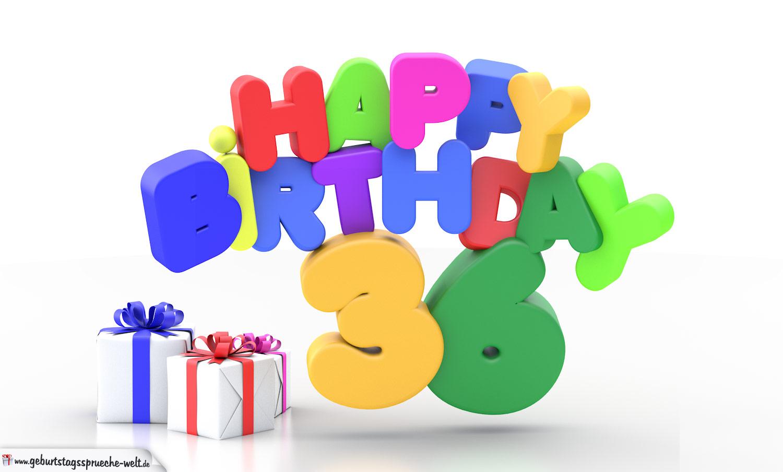 Geburtstagssprüche 36