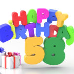 Happy Birthday 58 Geburtstag
