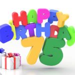 Happy Birthday 75 Geburtstag