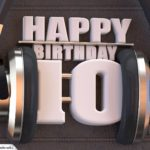10. Geburtstag Karte Happy Birthday Kopfhörer