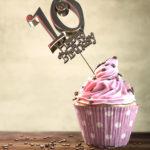 10. Geburtstag Muffin Geburtstagskuchen Happy Birthday
