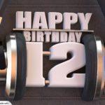 12. Geburtstag Karte Happy Birthday Kopfhörer