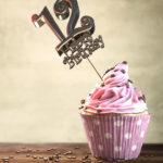 12. Geburtstag Muffin Geburtstagskuchen Happy Birthday