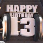13. Geburtstag Karte Happy Birthday Kopfhörer