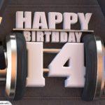 14. Geburtstag Karte Happy Birthday Kopfhörer