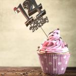 14. Geburtstag Muffin Geburtstagskuchen Happy Birthday