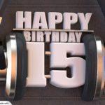 15. Geburtstag Karte Happy Birthday Kopfhörer