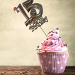 15. Geburtstag Muffin Geburtstagskuchen Happy Birthday
