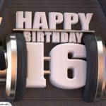 16. Geburtstag Karte Happy Birthday Kopfhörer
