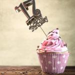17. Geburtstag Muffin Geburtstagskuchen Happy Birthday