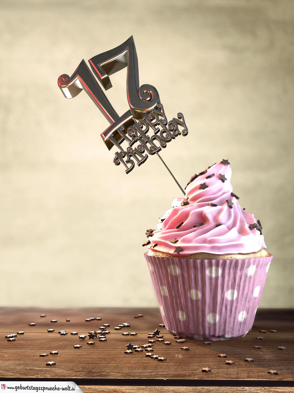 17 Geburtstag Muffin Geburtstagskuchen Happy Birthday