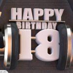 18. Geburtstag Karte Happy Birthday Kopfhörer