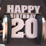 20. Geburtstag Karte Happy Birthday Kopfhörer