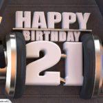 21. Geburtstag Karte Happy Birthday Kopfhörer