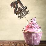 21. Geburtstag Muffin Geburtstagskuchen Happy Birthday