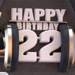 22. Geburtstag Karte Happy Birthday Kopfhörer