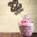22. Geburtstag Muffin Geburtstagskuchen Happy Birthday
