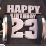23. Geburtstag Karte Happy Birthday Kopfhörer