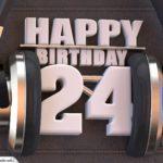 24. Geburtstag Karte Happy Birthday Kopfhörer