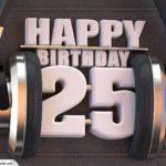 25. Geburtstag Karte Happy Birthday Kopfhörer