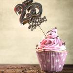 25. Geburtstag Muffin Geburtstagskuchen Happy Birthday