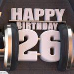 26. Geburtstag Karte Happy Birthday Kopfhörer