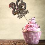 26. Geburtstag Muffin Geburtstagskuchen Happy Birthday