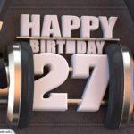 27. Geburtstag Karte Happy Birthday Kopfhörer