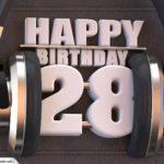28. Geburtstag Karte Happy Birthday Kopfhörer
