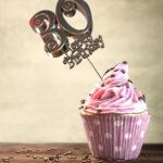 30. Geburtstag Muffin Geburtstagskuchen Happy Birthday