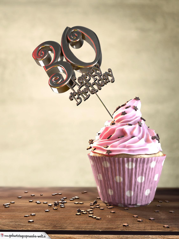 30 Geburtstag Muffin Geburtstagskuchen Happy Birthday