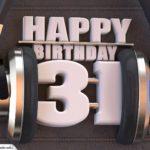 31. Geburtstag Karte Happy Birthday Kopfhörer
