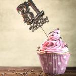 31. Geburtstag Muffin Geburtstagskuchen Happy Birthday