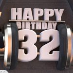 32. Geburtstag Karte Happy Birthday Kopfhörer