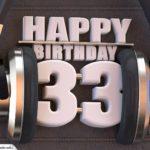 33. Geburtstag Karte Happy Birthday Kopfhörer