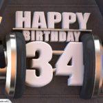 34. Geburtstag Karte Happy Birthday Kopfhörer
