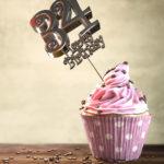 34. Geburtstag Muffin Geburtstagskuchen Happy Birthday