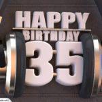 35. Geburtstag Karte Happy Birthday Kopfhörer