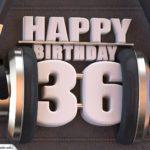 36. Geburtstag Karte Happy Birthday Kopfhörer