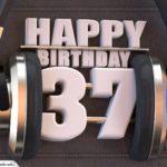 37. Geburtstag Karte Happy Birthday Kopfhörer