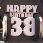38. Geburtstag Karte Happy Birthday Kopfhörer