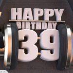 39. Geburtstag Karte Happy Birthday Kopfhörer