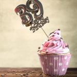 39. Geburtstag Muffin Geburtstagskuchen Happy Birthday
