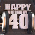 40. Geburtstag Karte Happy Birthday Kopfhörer