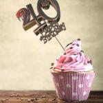 40. Geburtstag Muffin Geburtstagskuchen Happy Birthday