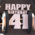 41. Geburtstag Karte Happy Birthday Kopfhörer