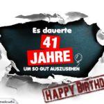41. Geburtstag Lustige Geburtstagskarte kostenlos