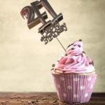 41. Geburtstag Muffin Geburtstagskuchen Happy Birthday