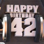 42. Geburtstag Karte Happy Birthday Kopfhörer