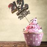 42. Geburtstag Muffin Geburtstagskuchen Happy Birthday